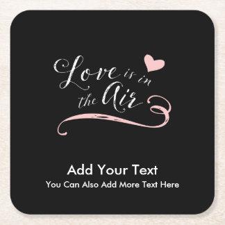Dessous-de-verre Carré En Papier L'amour est dans le ciel - Saint-Valentin ou
