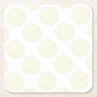 Dessous-de-verre Carré En Papier Le chou jaune s'est levé