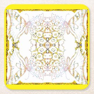 Dessous-de-verre Carré En Papier Mandala de machaon de tigre