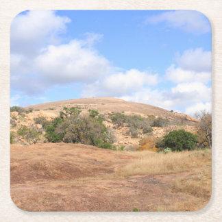 Dessous-de-verre Carré En Papier Parc d'état enchanté par pays de roche de colline