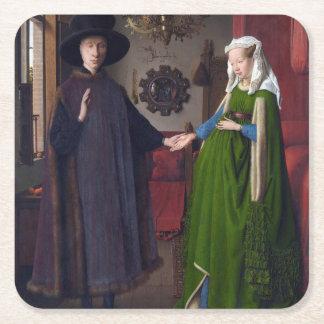Dessous-de-verre Carré En Papier Portrait 1434 de JANV. VAN EYCK- Arnolfini