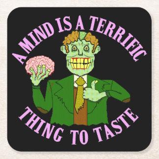 Dessous-de-verre Carré En Papier Professeur drôle Proverb de zombi