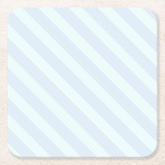 Dessous-de-verre Carré En Papier Rayures vertes et bleues en bon état molles -