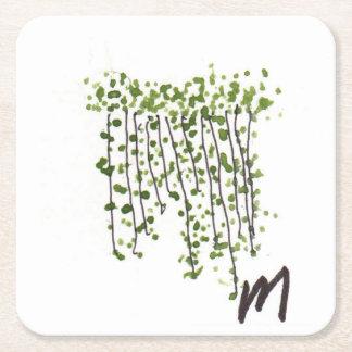 Dessous-de-verre Carré En Papier Rideau vert