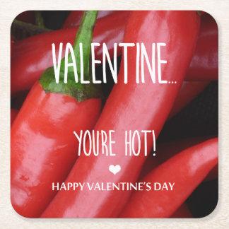Dessous-de-verre Carré En Papier Valentine, vous êtes chauds !