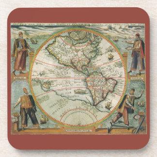 Dessous-de-verre Carte de Vieux Monde antique des Amériques, 1597