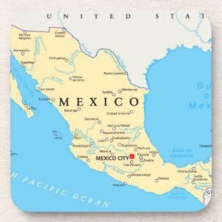 Dessous-de-verre Carte politique du Mexique