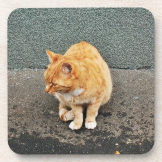 Dessous-de-verre Chat doux sur la rue