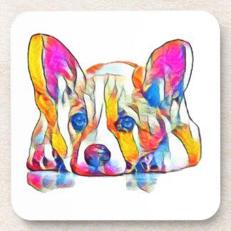 Dessous-de-verre Chiot coloré