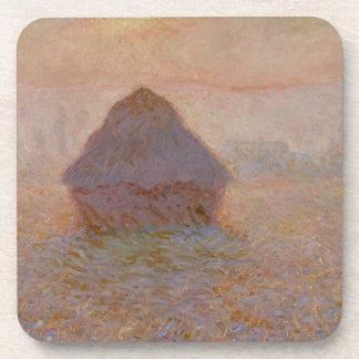 Dessous-de-verre Claude Monet   Grainstack, Sun dans la brume