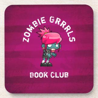 Dessous-de-verre Club de lecture mignon de Grrrls de zombi de punk