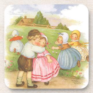 Dessous-de-verre Comptine vintage d'oie de mère de Georgie Porgie