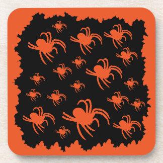 Dessous-de-verre Conception d'araignée de Halloween