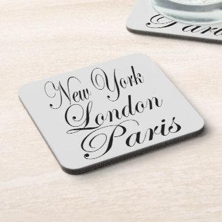 Dessous-de-verre Copie des textes de New York Londres Paris
