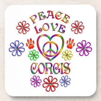 Dessous-de-verre Corgis d'amour de paix