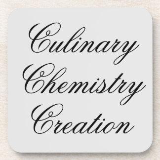 Dessous-de-verre Création culinaire de chimie