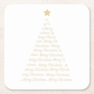 Dessous de verre d'arbre de Noël Dessous-de-verre Carré En Papier