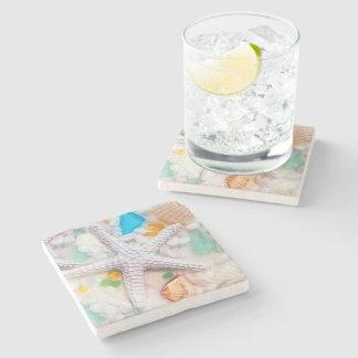 Dessous de verre de boissons de thème de Tropican Dessous-de-verre En Pierre