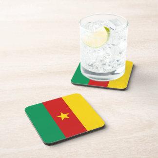 Dessous de verre de drapeau du Cameroun