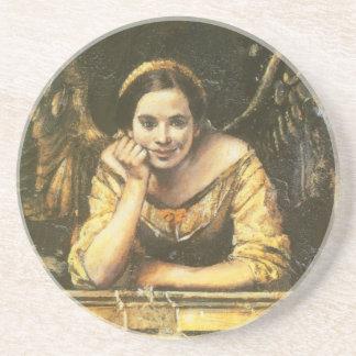 Dessous de verre de fresque d'ange de style de la