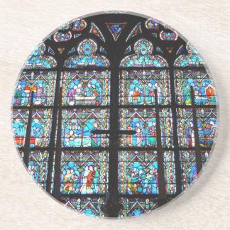 Dessous de verre de grès--Fenêtres en verre teinté