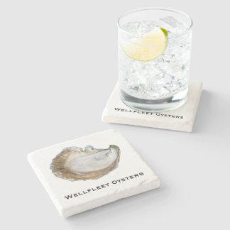 Dessous de verre de marbre d'huître - conception C Dessous-de-verre En Pierre