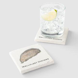 Dessous de verre de marbre d'huître - conception D Dessous-de-verre En Pierre