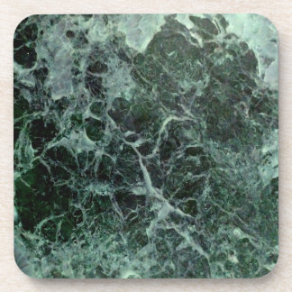 Dessous de verre de marbre verts