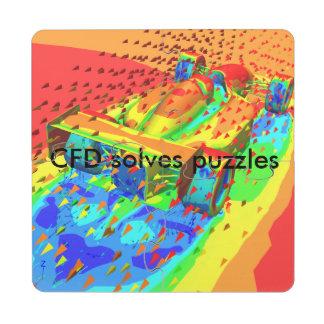 Dessous de verre de puzzle de CFD Racecar Dessous De Verre Puzzle