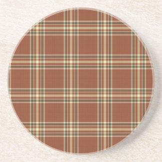 Dessous de verre de tartan de Brown