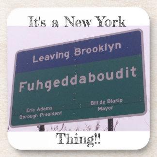 Dessous-de-verre Départ de Brooklyn New York Fuhgeddaboudit