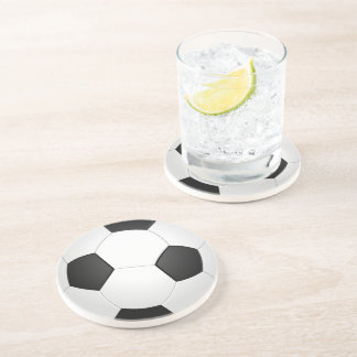 Dessous de verre d'illustration du football de