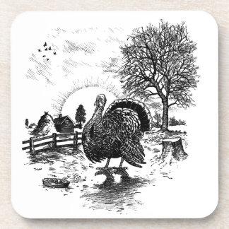 Dessous-de-verre Dinde vintage de thanksgiving