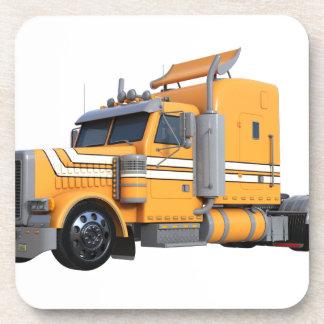 Dessous-de-verre D'orange remorque de tracteur semi