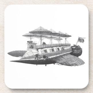 Dessous-de-verre Éclipse vintage de dirigeable de Steampunk de la