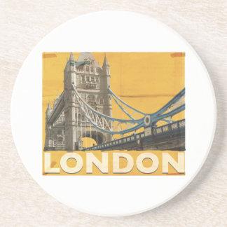 Dessous De Verre En Grès Affiche vintage de Londres