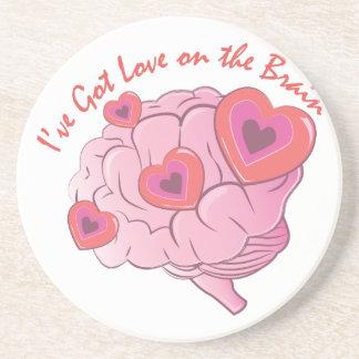 Dessous De Verre En Grès Amour sur le cerveau