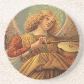 Dessous De Verre En Grès Ange de Noël jouant le violon Melozzo DA Forli
