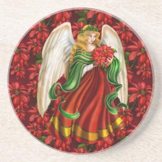 Dessous De Verre En Grès Ange traditionnel de Noël