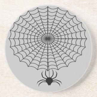 Dessous De Verre En Grès Araignée et toile d'araignée