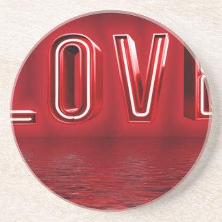 Dessous De Verre En Grès Arrière - plan d'amour