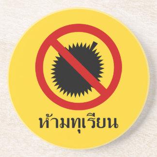 Dessous De Verre En Grès AUCUN ⚠ thaïlandais de signe de ⚠ de fruit de