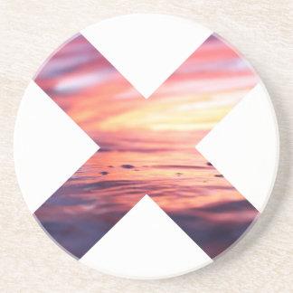 Dessous De Verre En Grès Beau signe du paysage X
