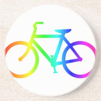 Dessous De Verre En Grès Bicyclette 4 d'arc-en-ciel