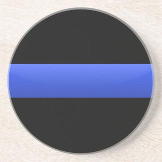 Dessous De Verre En Grès Blue Line mince