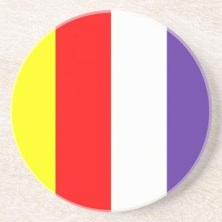 Dessous De Verre En Grès bouddhiste-drapeau
