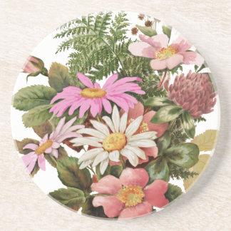 Dessous De Verre En Grès bouquet de fleur