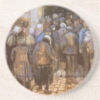 Dessous De Verre En Grès Bureau de loterie d'état (argent pauvre) Vincent