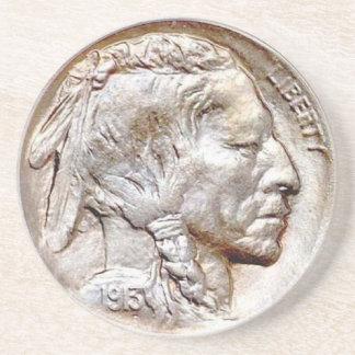 Dessous De Verre En Grès Caboteur d'argent de nickel de Buffalo