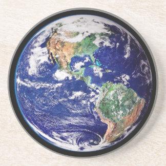 Dessous De Verre En Grès Caboteur de la terre de planète